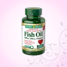 What supplement can help promote heart, vascular, & circulatory health? You guessed it - Fish Oil!*