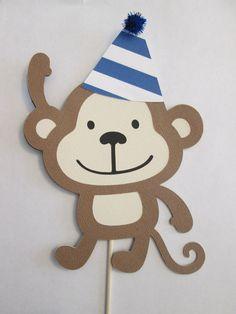 Centros de mesa decoraciones de cumpleaños de mono