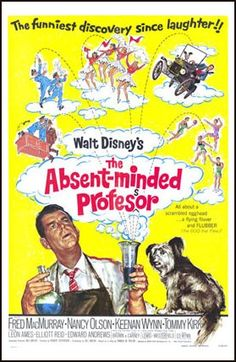 The Absent-Minded Professor posters for sale online. Buy The Absent-Minded Professor movie posters from Movie Poster Shop. We're your movie poster source for new releases and vintage movie posters. Walt Disney Movies, Classic Disney Movies, Disney Movie Posters, Old Movie Posters, Classic Movies, Cinema Posters, Pixar Movies, Indie Movies, Music Posters