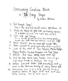 How to Break Through Your Creative Block: Strategies from 90 of Today's Most Exciting Creators – Brain Pickings