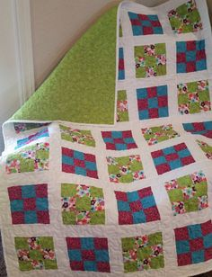 Toddler Quilt Toddler Bedding Toddler Throw Baby by PegsSewCrafty