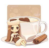 Anime, Chibi, Girl, If food was an anime character Manga Kawaii, Kawaii Chibi, Cute Chibi, Anime Chibi, Manga Anime, Anime Art, Chibi Cat, Cute Food Drawings, Kawaii Drawings