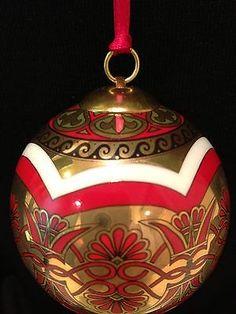 Hochst Porcelain Greek Christmas Ball Ornament Made in Germany NIB ...