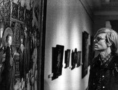 Leo Weisse, Andy Warhol in front of Stephan Lochner´s painting ´The presentation of Christ in the temple´ (1447), Hessisches Landesmuseum Darmstadt 1971, 2012