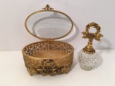 Vintage Filigree Jewel Box & Matching Perfumer Wreath of Roses Boudoir Paris Apartment by VintageLoveAntiques on Etsy https://www.etsy.com/listing/285488927/vintage-filigree-jewel-box-matching