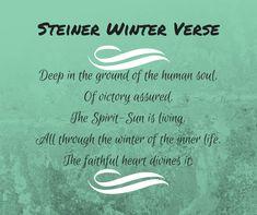 Waldorf Winter Solstice; Rudolf Steiner Verse