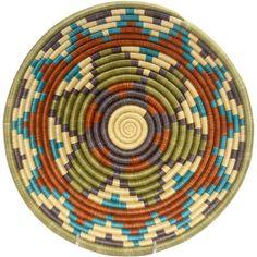 African Basket - Rwanda Sisal Coil Weave Bowl - 12 Inches Across - #33817