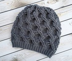 Crochet Pattern for Chain Link Slouch Hat - 5 sizes, baby to large adult - Welcome to sell finished items