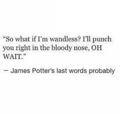 "The heartbreakingly funny thought that James used his last moments to mock Voldemort's lack of nose. | 18 ""Harry Potter"" Tumblr Posts That Will Make You Feel Feelings"