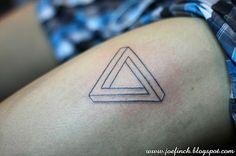 infinity triangle, penrose triangle, illusion triangle