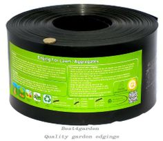 """Lawn edging, Recycled Plastic Edging for 'neat edge' perfect for lawns, paths, edges, gravel, Heavy Duty strimmer resistant and enviro Lawn Edging, Black, 2mm or 1mm thick (50m x 6""""  x 2mm Heavy Duty) by Best4garden, http://www.amazon.co.uk/dp/B00FKY6ZYQ/ref=cm_sw_r_pi_dp_LLsCtb1409QX0"""