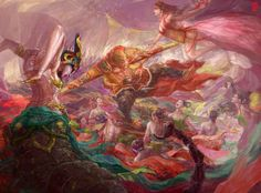 Monkey Art, Monkey King, Journey To The West, Ganesha Art, Fantasy Paintings, Fantasy Landscape, Chinese Art, Game Design, Cool Art