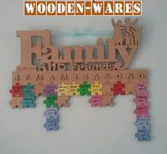 Family & Friends Birthday Tracker – Wooden Wares
