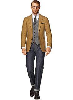 Jacket Ochre Plain Havana C793 | Suitsupply Online Store