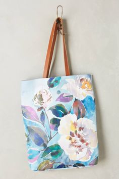 Anthropologie - Painted Florals Tote Bag