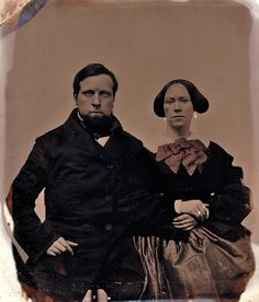 Together, 1/6th-Plate Ambrotype, Circa 1855