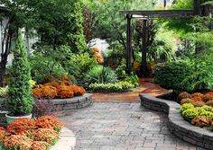 Chapel Stone Patio with Plantscape by Campbell Ferrara, via Flickr