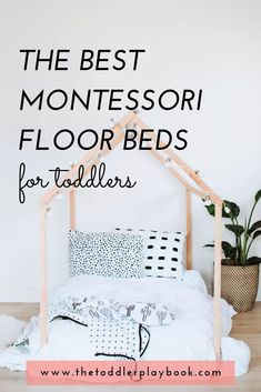 Looking for Montessori room ideas for your toddler? Check out the best Montessori floor beds for kid Montessori Toddler Rooms, Montessori Bedroom, Floor Bed Frame, Floor Beds, Toddler Floor Bed, Baby Room Decor, Nursery Room, Boy Room, Kids Bedroom