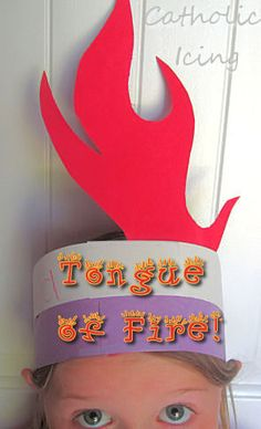 Make a Tongue of Fire craft with you kids for Pentecost! Acts 2; 3 Then there appeared to them tongues as of fire; which parted and came to rest on each one of them.
