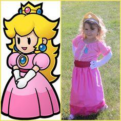 Princess Toadstool (princess peach) Costume