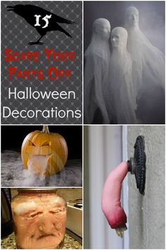 Forget cutesy…these Halloween decorations are downright freaky! So for those of you who love Halloween and appreciate a good scare, here are 15 super scary Halloween decorations guaranteed to scare your pants off! Halloween Prop, Scary Halloween Decorations, Halloween Birthday, Halloween 2019, Holidays Halloween, Halloween Themes, Halloween Crafts, Happy Halloween, Halloween Stuff