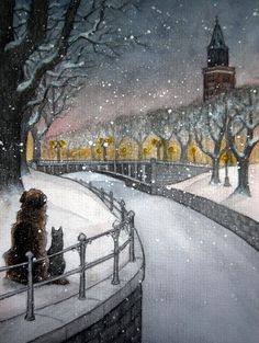 winter city by moussee.deviantart.com on @deviantART