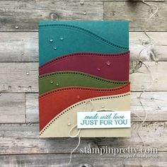 Create this card using the Curvy Dies from Stampin\' Up! Created by Mary Fish, Stampin\' Pretty