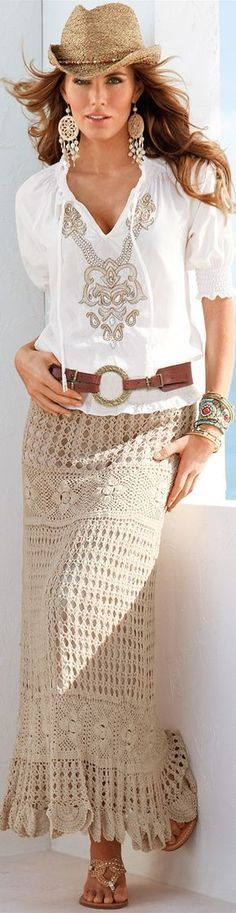 everything except the hat - BOHO CHIC, CASUAL CROCHET, AND LACE