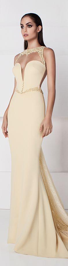 Saiid Kobeisy SS 2016 maxi cream dress women fashion outfit clothing style apparel @roressclothes closet ideas