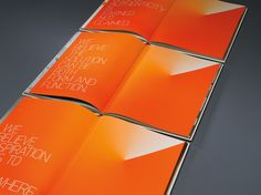 A beautiful book for Factory Design Labs, printed by our friends, Cenveo. Gosh, they do such amazing printing. Look at that orange! Printed Portfolio, Portfolio Book, Editorial Layout, Editorial Design, Orange Paper, Brand Book, Factory Design, Annual Reports, Design Lab