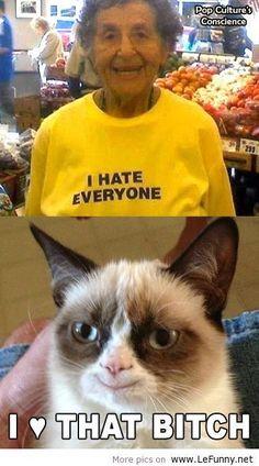 #GrumpyCat loves that bitch