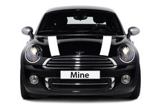 Mini Cooper and Cooper S Hard Top (2014-2016) Hood Decals - Exact Fit - Single Color