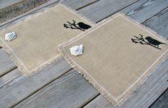 Burlap Placemats Rustic Table Decor Set of by LittleZebrasBoutique, $25.50