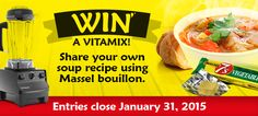 Win a Vitamix. Share your own soup recipe using Massel bouillon. #vitamix #giveaway
