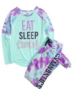 Gymnast Fleece Footed Pajama Set | Girls Pajamas Sleepwear | Shop Justice