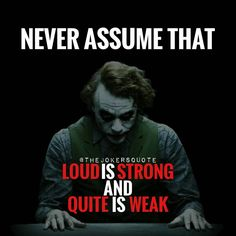 "874 Likes, 7 Comments - Joker Quotes (@thejokersquote) on Instagram: ""Must Follow @_Joker_Forever @TheJokersQuote @TheJokerSayings For Daily Motivation And Inspirational…"""