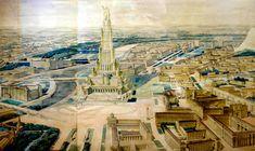 "Oude plannen van megalomaan ""Paleis der Sovjet-Unie"