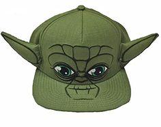 Star Wars Yoda Big Face Snapback Baseball Hat a976a31f6508