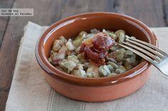 Receta de habitas frescas con jamón http://www.directoalpaladar.com/recetas-de-legumbres-y-verduras/receta-de-habitas-frescas-con-jamon