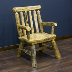 Pine Lake Log Arm & Rustic Side Dining Chairs