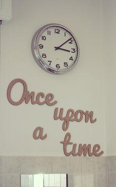 """""""Once upon a time...""""  Questa bellissima scritta in 3D la potete realizzare solo da noi <3  #scritte #frasi #quote #wall #ikea #clock #cucina #walldecoration #homedecoration"""