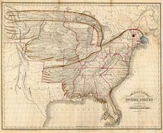 The Eagle Map of the United States (1883) | Rudiments of National Knowledge