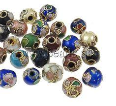 Filigree Cloisonne Beads,  jewelry making  http://www.beads.us/product/Filigree-Cloisonne-Beads_p24244.html