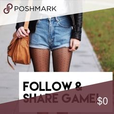 Follow & Share Game! FOLLOW me & SHARE this post, and I will FOLLOW you back and SHARE 2 of your items! :) *Also like this post and follow everyone who has liked it too!* Other