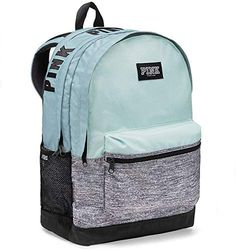 Shop a great selection of Victoria's Secret Pink Women's Campus Backpack Light Blue / Gray. Find new offer and Similar products for Victoria's Secret Pink Women's Campus Backpack Light Blue / Gray. Victoria Secrets, Victoria Secret Pink, Mint Backpack, Travel Backpack, Mochila Victoria Secret, Victoria Secret Backpack, Cute Backpacks For School, Grey Backpacks, Backpacks From Pink