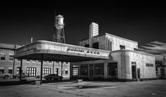 https://flic.kr/p/Acj6oQ | Field Bros_BW | What might have been a gas station in Pauls Valley, Oklahoma.