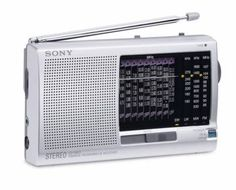 Handy world standard receiver for beginners. Sony World Receiver is the ideal travel companion. Radios, Love Radio, Sony Electronics, Radio Antigua, Short Waves, Hygiene, Shopping Sites, Cool Things To Buy, Vinyls