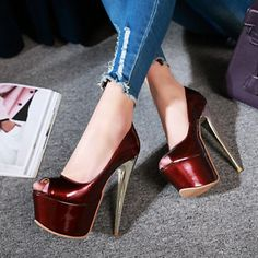 cc2ccbe0a3 Womens High Stilettos Platform High Heel Peep Toe Sandal Shoes Nightclub  Plus Sz #Platformhighheels High