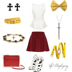 """""""Asuna Closplay"""" by closplaying on Polyvore"""
