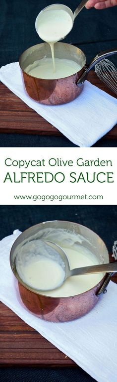 This Copycat Olive Garden Alfredo Sauce is out of this wold good! | Go Go Go Gourmet @gogogogourmet: